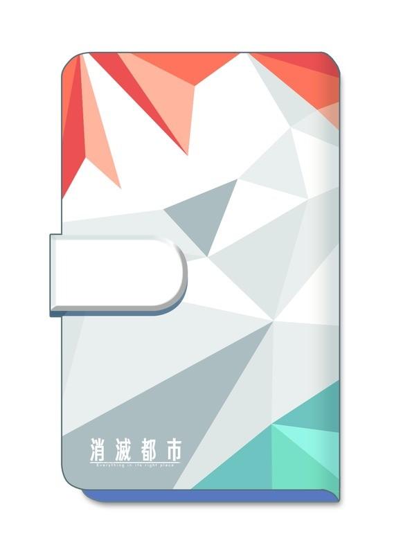 消滅都市 2nd Anniversary 手帳型スマホケース(オレンジ×ブルー)